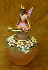 """Enameled Perfume Bottle PB528 PINK FAIRY, 3.5"""" NEW From Retail Store  Welforth"""