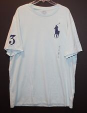Polo Ralph Lauren Big & Tall Mens Aqua Green Big Pony Polo T-Shirt NWT Size 1XB