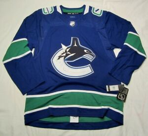 VANCOUVER CANUCKS - size 54 = size XL -  Home Blue - ADIDAS NHL HOCKEY JERSEY