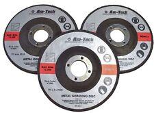AMTECH 3pc 22.23 x 6 x 115mm 4.5'' METAL BOLT CUTTING DISC GRINDER CUTTER BLADE