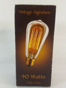 New Edison Base Squirrel Cage Filament Light Bulb, Antique Style, 40 Watt, #105