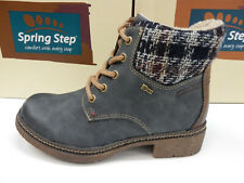 Spring Step Womens Marylee Boot Navy EU 41 / US 9.5-10