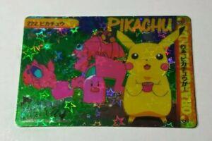 Vintage 90s Vending Machine Sticker Pink Diglett Pikachu STAR Holo Pokemon Card