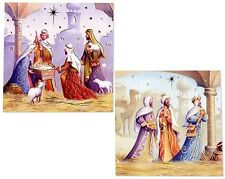 PACK OF 12 NATIVITY SCENE CHRISTMAS CARDS IN 2 DIFFERENT DESIGNS - BRAND NEW