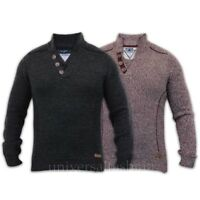 Mens Jumper Threadbare Wool Mix Knitted Pullover Top Sweater Casual Winter New