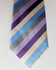 Soie Tissée Cravate Multicolore Rayures Savile Row Company London classique moderne