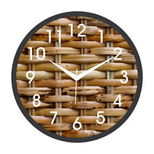 Simple Knot Analogue Printed Round Wall Clock Home Living Room Bedroom Office