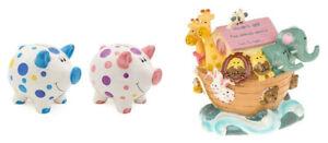 Childrens Money Boxes.Noahs Ark ,Piggy Banks.Christening,New Born, Birthday Gift