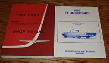 1965 Ford Thunderbird Shop Service Manual Owners Sales Brochure 4 Piece Lot 65