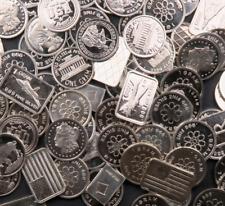 5x One Gram Bars & Rounds Lot ~ Gem PL ~~ 5 Grams Total ~~ .999 Fine Silver