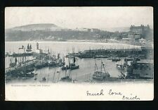 Yorkshire Yorks SCARBOROUGH From the castle Harbour 1903 u/b PPC