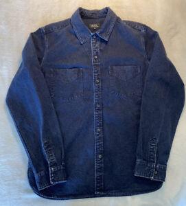 APC Paris Denim Shirt Men's Size Medium