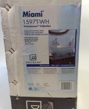 Glass Vessel Sink Bowl Decolav Miami 1597T-WH White New in box