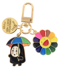 "Spirited Away ""No-Face"" Umbrella Keychain with Takashi Murakami Sunflower Charm"