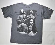 Bob Marley T-Shirt Gray L Print Reggae Music Celebrity Rasta Weed Jamaica Singer