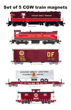 Chicago Great Western Freight Train 5 magnets by Andy Fletcher