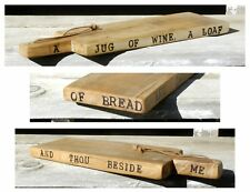 French Cutting Board Solid Oak Country Farmhouse Primitive Kitchen Bread Tray 27