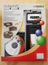 Clean-It Pflege -Set (Reinigungs-CD, -Kassette, -VHS Video) mit Reinigungstuch