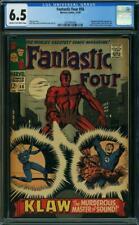 Fantastic Four #56 CGC 6.5 -- 1966 -- Klaw, Inhumans, Doom, Panther #2001997004