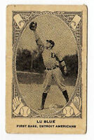 1922 Neilson's V61 Type 2  Baseball Card Lu Blue Detroit Americans