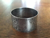 French Art Nouveau Sterling Silver Napkin Ring No Monograms Brightcut Etched