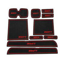 For Suzuki Swift 2005-2014 interior Anti-Slip Mat Auto Cup Holder Gate Slot Pad