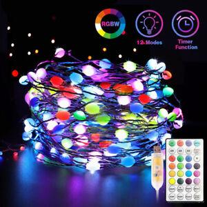 10M 20M WS2812B sk6812 LED Pixel Copper String Light Individually Addressable 5V