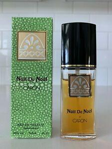 "Nuit De Noel Caron Eau De Toilette 1 fl. oz. 90-95% full ""Rare Find"" In Box"
