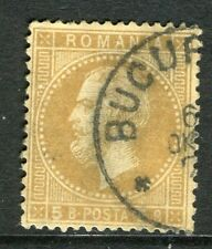 La Roumanie; 1872 Early PRINCE CAROL question fine utilisée 5b. Valeur, Fair POSTMARK