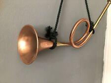 More details for copper brass horn vintage bugle musical instrument / decoration 16 ins