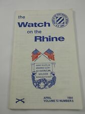 The Watch on the Rhine Society of the Third Infantry Div. April 1991 Vol.72 No.5