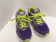 SAUCONY COHESION 7 PURPLE/LIME/SILVER RUNNING SHOES WOMEN'S SIZE-5M