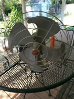 Vintage GE General Electric Vortalex 3 Speed F11V163 Oscillating Cage Fan