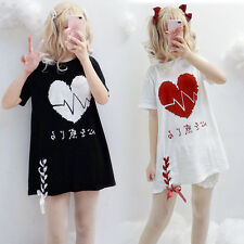 Japanese Vintage Harajuku Gothic Lolita Loose Summer Short Sleeve T-Shirt Tops