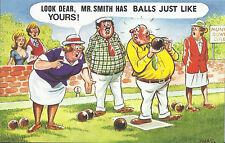 Vintage 1970's Bamforth COMIC Postcard (as new condition) Balls Like Yours #413