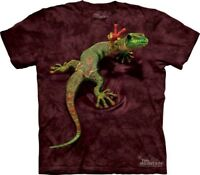 Peace Out Gecko T-Shirt by The Mountain. Hippie Reptile Lizard Sizes S-5XL NEW