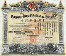 1913 China: Banque Industrielle de Chine - Industrial Bank