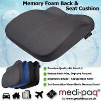 Memory Foam Seat Lumbar Pain Support Booster Car Cushion Chair Back Height Gain