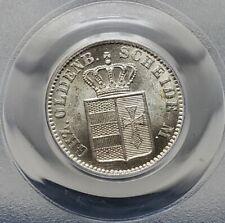 Silver 1866-B Oldenburg Germany 1/2 Groschen | PCGS MS62