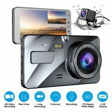 G-sensor Car Camera Dual Dash Cam Front and Rear Night 140 170 Wide Angle