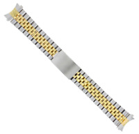 19 MM two tone gold/silver Jubilee Watch Replacement Band For Rolex Tudor L87