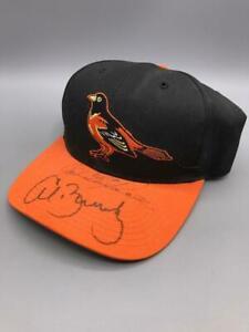Boog Powell Al Bumbry Signed Autographed Baltimore Orioles Hat Cap