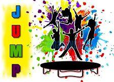 8 Einladungskarten Trampolin Party hüpfen JUMP Geburtstag Kinder Einladungen