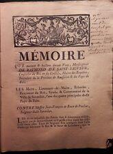 Mémoire contre Jean-François de ROUX de PAULIAC seigneur de SAVERDUN Ariège 1780