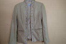pamela mccoy  coat jacket,BLAZER, LEATHER, ZIP,SZ xs ,bling ,