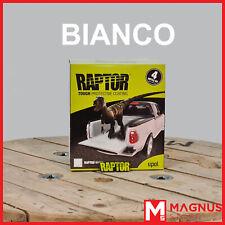 U-Pol Raptor Kit Vernice ruvida antigraffio bedliner 4L + indurente UPOL -BIANCO