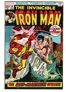 INVINCIBLE IRON MAN #54 (1973) - GRADE 4.5 - 1ST APP MOONDRAGON AS MADAM MACEVIL