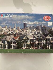 Vtg MB Puzzle~ Victorian Buildings San Francisco, CA 36 1/4 X 26 1/2 In. 2000