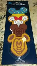 Disney Parks Exclusive Mickey Snack Food Icons Silicone Coaster SET of 4 ~ NEW