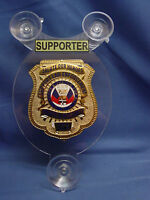SALUTE OUR HEROES SUPPORTER POLICE CAR SHIELD- NJSP- FOP - PBA- LAW ENFORCEMENT